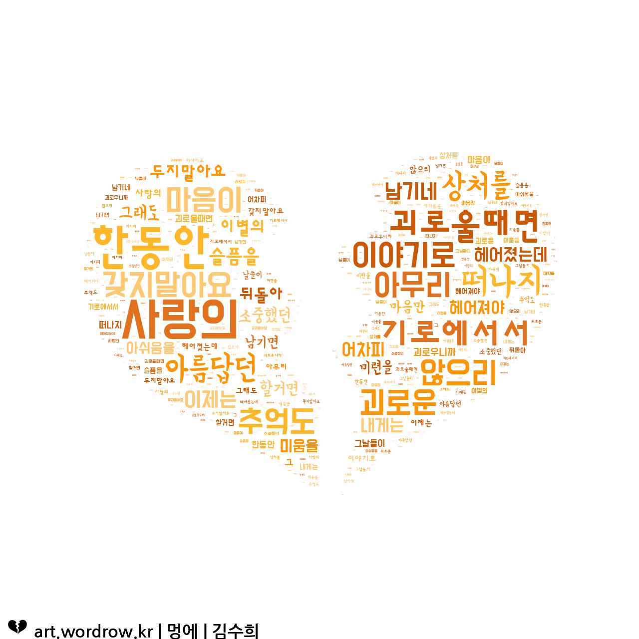 워드 클라우드: 멍에 [김수희]-73